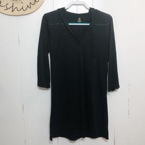 😎Balance Cover Up Tunic Black W/ Sleeves & Hood